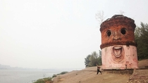 Tower in St Petersburg pimped by graffiti artist Nikita Nomerz