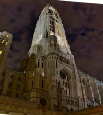 Tower of Riverside Church in NYC