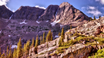 Towering cliffs in the Eagles Nest Wilderness CO