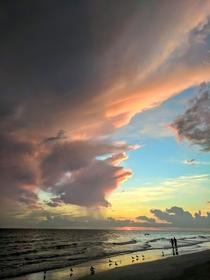 Towering clouds separate day and night over Treasure Island FL OC