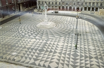 Town Hall Square Lisbon Portugal - pavement by Eduardo Nery
