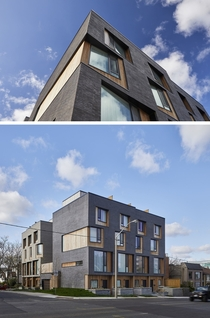 Townhouses with angled windows in Toronto Canada by Batay-Csorba Architects Photo Doublespace Photography