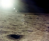 Tracks on the moon