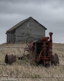 Tractor and farmhouse near Aberdeen SD