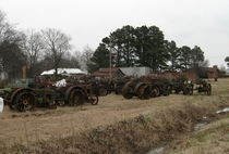 Tractor Graveyard England Arkansas  Big yard - more photos in comments