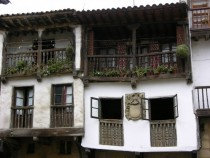 Traditional houses Santillana del Mar Cantabria Spain