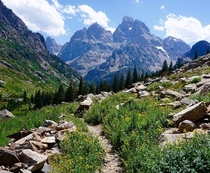 Trail up to Lake Solitude in Grand Teton National Park