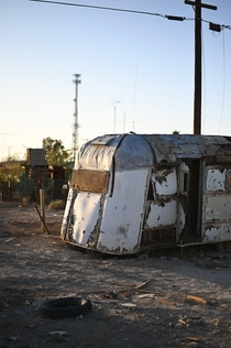 Trailer in Bombay Beach