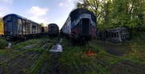 Train carriages abandoned in the UK