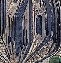 Train cars filled with coal are stationed in Norfolk Virginia Operated by the Norfolk Southern corporation Lamberts Point Pier  is the largest coal-loading station in the Northern Hemisphere and serves at the temporary depot for the companys fleet of  coa