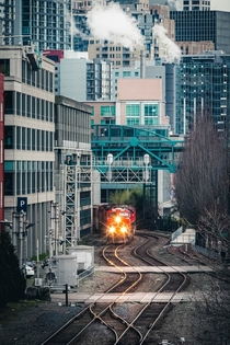Train tunnel that goes under Seattles downtown