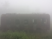 Train wagon under fog So Paulo - Brazil