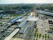 Trains Cars Subways Trams and Buses connect at Amsterdam Sloterdijk Station