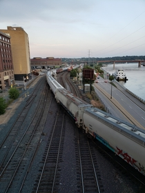 Trains crossing paths St Paul