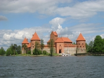 Trakai Island Castle Trakai Lithuania th c reconstructed post-WWII