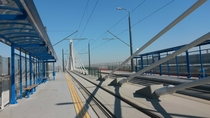 Tram bridge in Krakw Poland