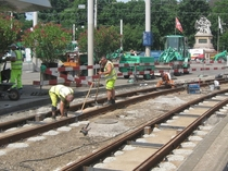Tram track repair in Basel CH More photos in comments