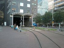 Tram tracks going trough a building The Hague The Netherlands  OC