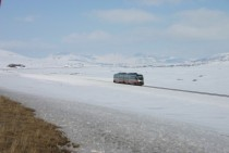 Tram-train crossing the Arctic Circle -