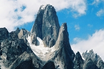 Trango Towers - A group of towers in the Baltoro Muztagh range rising up to  ft  m above sea level It also features some of the tallest cliffs in the world including the greatest nearly vertical drop on earth at  ft  m