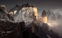Trango Towers Karakoram Pakistan  By Doug Kofsky