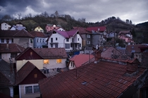 Transylvanian storm brewing above Brasov Romania