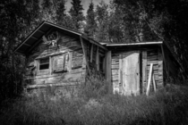 Trapper Jacks cabin deep in the Katmai wilderness of Alaska