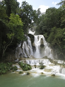 Travelling in SE Asia You have to visit Kuang Si Falls in Laos There are some great swimming holes further down too  By F Buxton