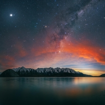 Treated to some epic conditions while catching the Milky Way after Sunset New Zealand