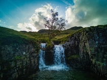 Tree and Waterfall in Lake District Got wet socks and bottom from this one Hope you appreciate it