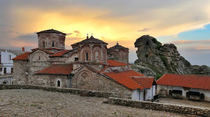 Treskavec Monastery near Prilep at sunset
