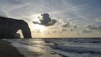 tretat view on the Manneporte Normandy France -
