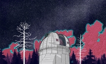 Tribute to the Mt Wilson Observatory - New Astronomy Digital Graphic