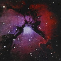 Trifid Nebula In Sagittarius also the cover for King Crimsons Islands