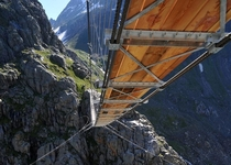Trift Bridge Swiss Alps
