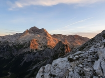 Triglav highest mountain in Slovenia