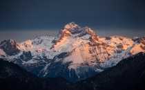 Triglav highest peak in Slovenia catching morning light OCx