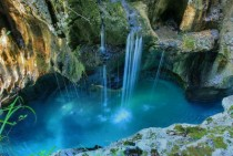 Triglav National Park near the town of Bovec in Slovenia