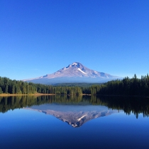 Trillium Lake Oregon- Symmetry in Nature
