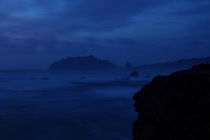 Trinidad Bay after sunset Humboldt County CA