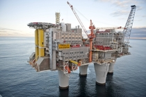 Troll A oil platform off the west coast of Norway