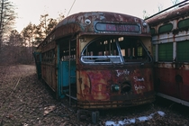 Trolley Graveyard Windber PA