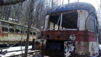 Trolleys in the woods of Windbur PA  x-post rJohnstown