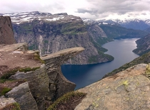 Trolltunga Norway on day  of a  day hiking trip