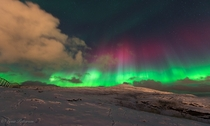 Troms Norway Aurora Borealis photographed by Lena Pettersen