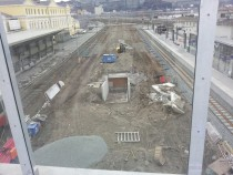 Trondheim Central station Norway is being refurbished