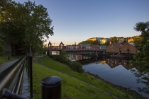 Trondheim Norway and the Old Town Bridge  by Allan Pedersen
