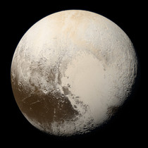 True color photo of Pluto