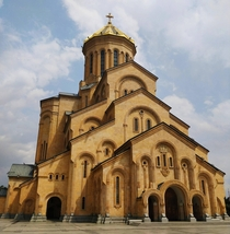 Tsminda Sameba The Holy Trinity Cathedral in Tbilisi Georgia