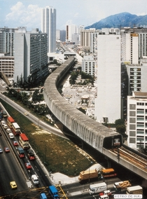Tsuen Wan Extension viaduct shortly after opening in  Hong Kong